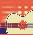 acoustic guitar on old paper retro poster vector image