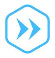 arrow sign linear hexagon icon vector image