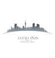 Auckland New Zealand city skyline silhouette