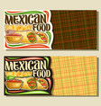 banners for mexican food vector image