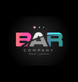 bar b a r three letter logo icon design vector image vector image