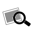 bars code and magnifying glass vector image vector image