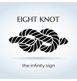 Black and White Rope Eight Knot vector image