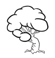 black and white tree vector image vector image