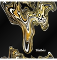 Black white and gold marble style abstract vector image vector image