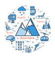 blue concept with mountains icon vector image vector image