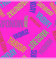 bright pink seamless pattern with days vector image vector image