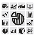 business chart icons vector image vector image