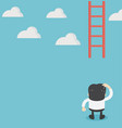 businessman missing ladder climbing upwards vector image vector image