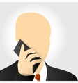 businessmen with phone vector image vector image