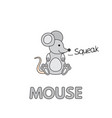 cartoon mouse flashcard for children vector image vector image