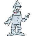 Cartoon tin man pointing vector image vector image