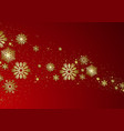 christmas background with golden snowflakes vector image
