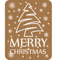 christmas card on wood background vector image vector image