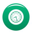 clock business icon green vector image vector image