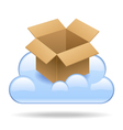 Cloud box vector image vector image
