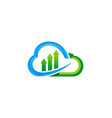 cloud data technology upload logo vector image