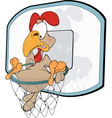 Cockerel the basketball player Cartoon