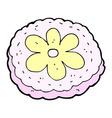 comic cartoon baked biscuit vector image vector image