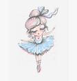 cute little ballerina surface design for kids vector image vector image