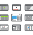 Different web browser icons set vector image vector image