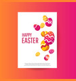 easter sale banner background template with vector image