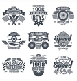 Emblems retro vintage race and super cars vector image vector image
