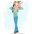 father with children vector image