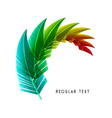 feather Design vector image vector image