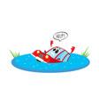 flat cartoon stylized drowing car