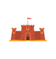 fortress with iron grating on entrance defensive vector image vector image