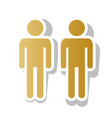 gay family sign golden gradient icon with vector image vector image