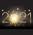 gold new year background with sparkle effect vector image vector image