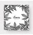 graphic detailed cards with peony leaves linear vector image