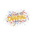 isolated carnival golden word and colorful vector image