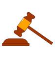 judges gavel on white background vector image