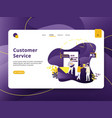 landing page customer service modern style vector image