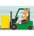 Loader with cheese vector image