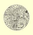 mandala ornament decorative doodles in zentangle vector image vector image