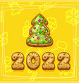 merry christmas and happy new year 2022 christmas vector image