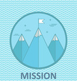 mission mountain climb logo design template in vector image vector image