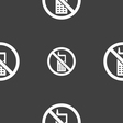 mobile phone is prohibited icon sign Seamless vector image