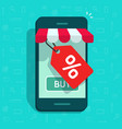 mobile phone store and sale tag vector image vector image