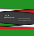 modern background with italian colors vector image