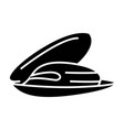 mussels icon black sign on vector image vector image