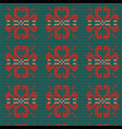 norwegian traditional ornament seamless pattern w vector image vector image