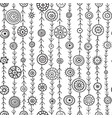 ornamental circles on lines seamless pattern vector image