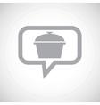 Pan grey message icon vector image vector image