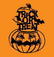 paper cut silhouette halloween pumpkin trick or vector image vector image