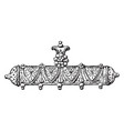pendant oblong ornament vintage engraving